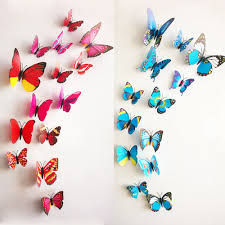 3d butterfly wall ornaments ewantly