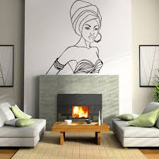online get cheap wall stickers african woman aliexpress com beautiful african woman wall stickers vinyl removable adhesive wall decals interior wall decor china