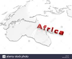 Africa Regions Map by 3d Illustration Africa Region Map On White Stock Photo Royalty