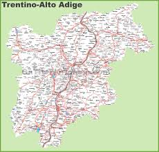 Italy Map Cities by Trentino Alto Adige Maps Italy Maps Of Trentino Alto Adige
