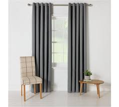 buy colourmatch blackout curtains 117x137cm flint grey at
