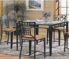glass top modern counter height dining table w optional chairs