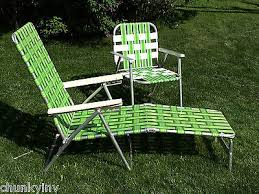 Aluminum Web Lawn Chairs Vintage Green Webbed Web Cushion Aluminum Folding Chaise Lounge