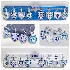 hanukkah ornaments of david dreidel ornament set of 2