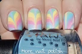 pastel rainbow water marble with some tips and tricks more nail