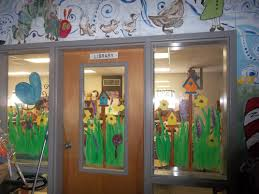 spring window painting with students library ideas pinterest