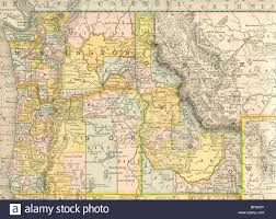 United States Map Mountains by Original Old Map Of Northwest United States From 1884 Geography