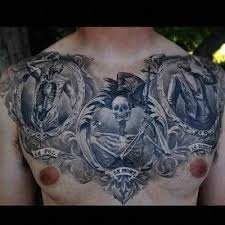 chest sick arm image skeleton tattoos design idea for men and women