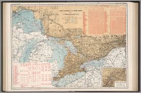 St Lawrence Seaway Map Canals Lighthouses And Sailing Routes On St Lawrence River