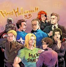 avengers u0027s halloween party by mushstone on deviantart
