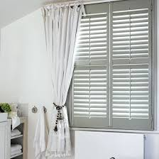 Plantation Shutters And Drapes White Shutters With Curtains Nrtradiant Com