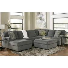 Sectional With Ottoman 3 Sectional And Ottoman In Loric Smoke Nebraska Furniture