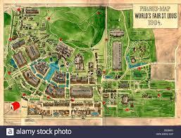 St Louis Mo Map Pharus Map Of World U0027s Fair St Louis Missouri 1904 Stock Photo