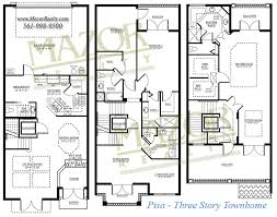 Three Story Townhouse Floor Plans Tuscany Village At Boca Raton A New Luxury Town Home Community In