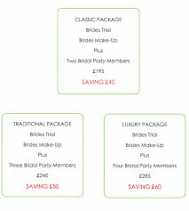 wedding makeup packages prices for wedding makeup wedding corners