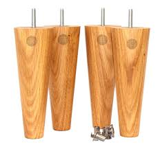 oak wood table legs summer solid oak round tapered wooden furniture legs set of four