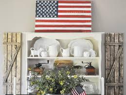 American Flag Decor Vintage Fourth Of July Decor Little Glass Jar