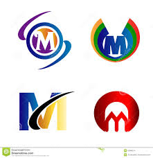 letter m logo icons set vector graphic design stock vector image