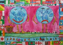 my place in today u0027s world is a litter free world children map