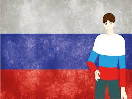 Purple Flag The Russian Federation Flag Ppt Backgrounds Blue Design Flag