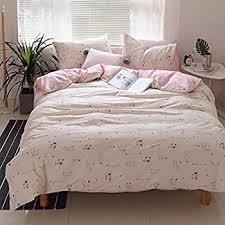 Bedding Sets For Girls Print by Amazon Com Highbuy Cartoon Cats Print Girls Duvet Cover Sets Twin