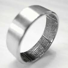 fingerprint wedding bands 27 best wedding band images on rings wedding