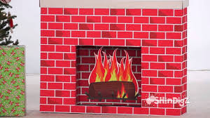 Sunjoy Amherst Fireplace by Innovative Ideas Fake Christmas Fireplace 12 Tutorials To Make A
