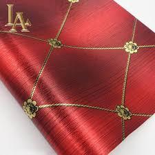 vintage european luxury homes decor red golden gold foil wallpaper