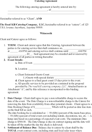 download catering contract template for free tidyform