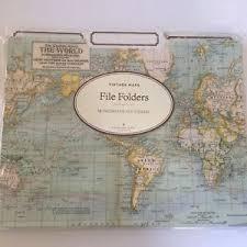 cavallini file folders new cavallini co vintage world maps file folders set 12