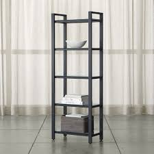 Iron And Wood Bookcase Bookcases Wood Metal And Glass Crate And Barrel