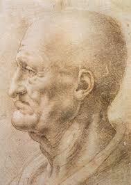 Leonardo Da Vinci Drapery Profile Of An Old Man C 1505 Leonardo Da Vinci Wikiart Org