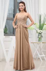light bridesmaid dresses light brown simple sweetheart sleeveless zipper floor length