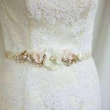 blush wedding belt sash bridal belt champagne bridal sash gold