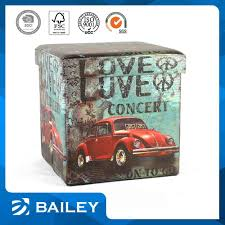 Printed Storage Ottoman Bailey Magic Cube Printed Folding Storage Ottoman Colorful Storage