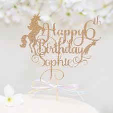 unicorn cake topper personalized gold unicorn cake topper sugar crush co