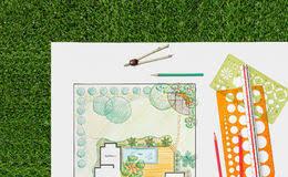 Backyard Plan Plan Landscape Garden Design Stock Photos Images U0026 Pictures