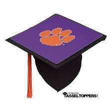 purple graduation cap clemson tiger paw grad cap tassel topper tassel