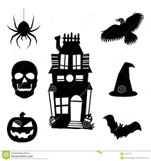 halloween silhouette clipart halloween silhouette icons stock vector image 44300172