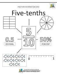 fraction decimal percentage worksheet u0026 percentages