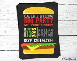bbq invite personalized printable chalkboard backyard bbq