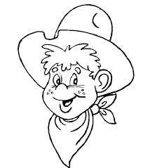 free cowboy coloring pages kids coloring