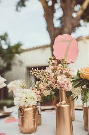 Pink And Gold Centerpieces by Best 25 Copper Wedding Decor Ideas On Pinterest Copper Wedding