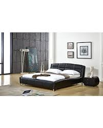 Black Leather Platform Bed Amazing Shopping Savings Container Furniture Direct Thompson