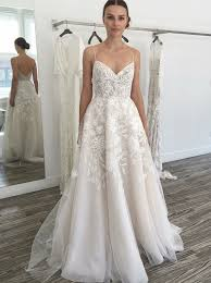 wedding dress a line buy a line spaghetti straps sweep tulle wedding dress with
