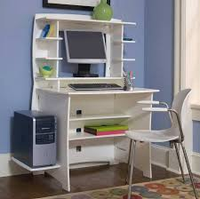 Small White Desk With Drawers by Small Computer Desk With Drawers And Pull Out Keyboard Shelf