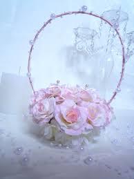 Porte Alliance Fleur Peignes à Cheveux Orchidée Rose Blanc Pour Mariage Ou Cérémonie