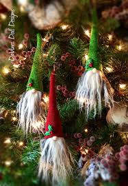 tomte nisse gnome scandinavian hanging ornaments set