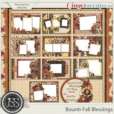 5x7 brag book gingerscraps pages and albums bounti fall blessings