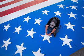 omaha teen u0027s giant american flag made out of plastic bricks sets